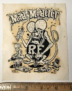 Vintage Ed Big Daddy Roth Mad Modeler Water Slide Decal Hot Rat Rod Rat Fink