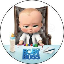 Baby Boss Decoration Gateau Disque Azyme Comestible Anniversaire Deco Party