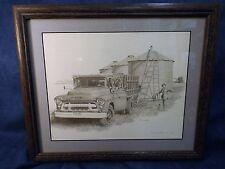Don Greytak Ltd Ed Print - Chevrolet Grain Truck - Signed- Matted & Framed