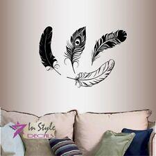 Wall Vinyl Peacock Feather Bird Any Room Mural Decor Design Wall Sticker 1365