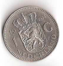 1968 The Netherlands 1 G Coin Holland Dutch Gulden