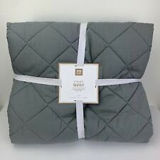 Pottery Barn Teen Finley Quilt Grey Size Twin Brand New!