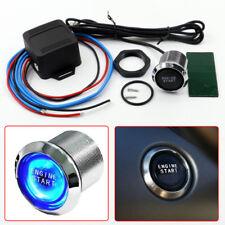12V DIY Car Blue LED Engine Start Push Button Switch Ignition Starter Kits