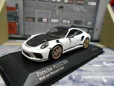 PORSCHE 911 991 GT3 RS GT3RS 991.2 Facelift Weissach Pack white Minichamps 1:43