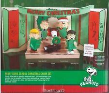 New Peanuts Charlie Brown Christmas Figure Fold-Out School Christmas Choir Set