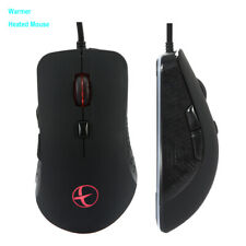 Wired Warmer Heated Mouse For Windows PC Games USB 2400 DPI With 6 Buttons