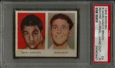 1956 Swedish Rekord Journal Rocky Marciano Yngve Brodd Hand Cut PSA 5 EX Card