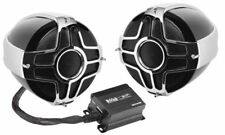 "BOSS AUDIO 1000 WATT 4"" 2 SPEAKER SOUND SYSTEM HARLEY DAVIDSON MOTORCYCLES ALL"