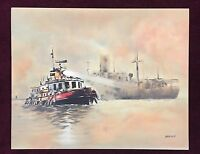 John Kelly Tug Boat Lithograph NEVER FRAMED