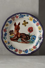 "NEW Nathalie Lete Anthropologie ""Deer Pansy"" ~ Floral Francophile Dinner Plate~"