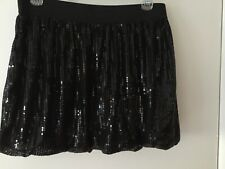 Girls Junior Plus Black Sequin Bubble Skirt Size 181/2 Nwt Holiday Wear!