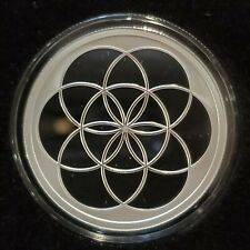 """2020 1 OZ .999 Silver Shield Proof Seed of Life #4 in """"Sacred Geometry"""" NEW!"""