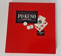 Vintage 1960s PO-KE-NO Board Game - Poker Keno-Complete Set