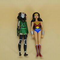 lot of 2 DC UNIVERSE YOUNG JUSTICE JLU wonder woman CHESHIRE action figure  4""