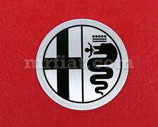Alfa Romeo Spider Wheel Cap Emblem Silver 48 mm OEM New