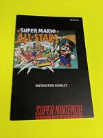 SUPER MARIO ALL-STARS - Instruction Booklet Manual Original SNES SUPER NINTENDO