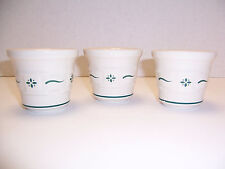 """Usa Longaberger Woven Traditions Heritage Green 3 Votive Candleholders (2.5"""")"""