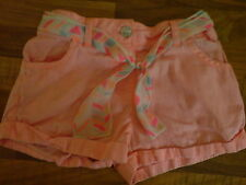 Young Dimension Kids Girls Peach Shorts & Ribbon Belt Age 2-3 Years