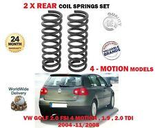 FOR VW GOLF 2.0 FSI 1.9 2.0 TDI 4 MOTION MODELS 2004 > 2X REAR COIL SPRINGS SET
