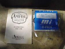 Vintage AMPRO Precision 16mm Movie Projector bundle w Hard Case