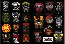 METALLICA SKULLS & METAL Band SKULLS collection Aufkleber/Sticker,zwei Bögen Set