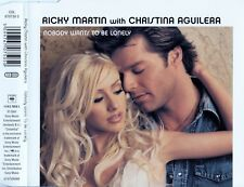 RICKY MARTIN WITH CHRISTINA AGUILERA : NOBODY WANTS TO BE LONELY / CD