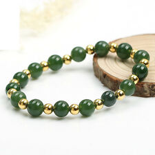 Authentic Grade A Jade (jadeite) 10mm Green Bead 4mm 925 Silver Bead Bracelet