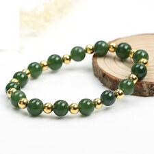 Authentic Grade A Jade (jadeite) 10mm Green Bead 4mm 925 Silver Bead Bracelet