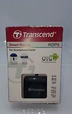 Transcend USB 2.0 OTG Card Reader, Black (TS-RDP9K) New