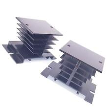 2pcs Aluminum Heat Sink 80mm X 50mm X 50mm For Solid State Relay Ssr Black