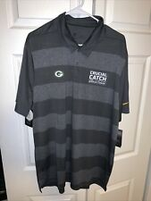 Nike NFL Crucial Catch Dri-fit Polo Shirt Gray Green Bay Packers Men's Size XL
