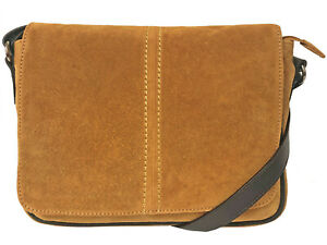Over 50% Off Rowallan Mustard Suede and Tan Leather Shoulder Bag