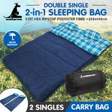 Wallaroo Double Size Thermal Camping Sleeping Bag Tent Outdoor Hiking 220x145
