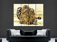 LEOPARD ANIMAL BIG CAT  POSTER WALL ART PICTURE  LARGE GIANT