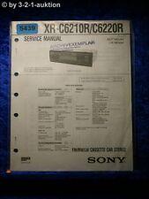 Sony Service Manual XR C6210R /C6220R Car Stereo (#5439)