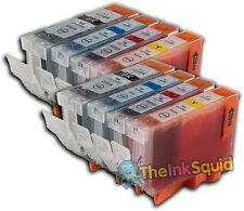 8 Canon PGI-5 CLI-8 Compatible Ink Cartridges PGI-5Bk