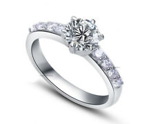 Diamond Ring 8447 #5 ViVi Ladies Engagement sterling silver