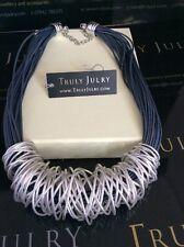 Lujoso Grueso Enlace collar de plata de diseño contemporáneo-Empaquetado Regalo