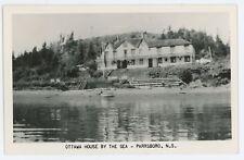 RPPC Ottawa House by the Sea PARRSBORO NS Nova Scotia Real Photo Postcard