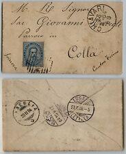 UMBERTO I-25c(40)-Lettera Chiavari->Colla(Svizzera) 26.2.1884