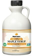 Maple Pantry Pure Organic Syrup Grade A Dark Robust 32 oz Formerly Grade B
