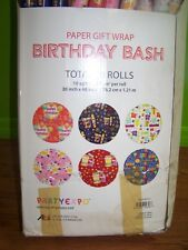 Lot of 49 Birthday Wrapping Paper Rolls With Retail Box - New - (C6)