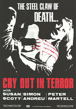 DEATH WALKS AT MIDNIGHT orig one sheet poster CRY OUT IN TERROR/NIEVES NAVARRO