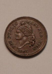 1863 CIVIL WAR TOKEN CWT FOR PUBLIC ACCOMODATION United States Copper