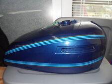 NOS Kawasaki Luminous Dark Blue Petro Fuel Gas Tank 1978 KZ650 51001-5032-7Z