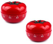 2x TOMATO Mechanical Kitchen Timer Game Count Down Counter Alarm Cooking Tool