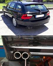 TERMINALI DI SCARICO PER BMW SERIE 3 E90 E91 2005-2011 INOX DOPPIO USCITA