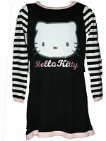 New Girls Black Hello Kitty knitted Tunic Dress  Age 2 - 10 Years