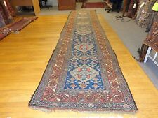 3.7 x 15 Antique Tribal Kurdistan Rug With Atleast 70 Animal Figures