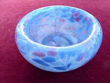 Stylish Murano Swirly Pink and Blues Peacock Style Bowl. Very Beautiful Piece